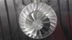 Turbine Milling Stock Footage