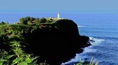 Kilauea Lighthouse Stock Footage