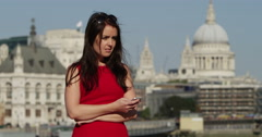 Woman waiting for her boyfriend who is late for their date. Shot on RED Epic. - stock footage