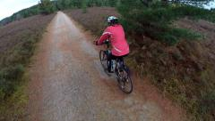 Algonquin Park - Cycling on Bike Trail 4 Stock Footage