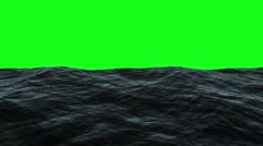 Waves on surface ocean for green screen effect Stock Footage