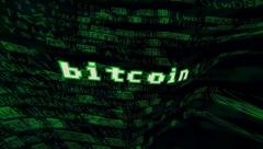 Bitcoin source code distortion gamma Stock Footage