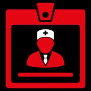 Doctor Badge Icon - stock illustration