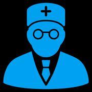 Main Physician Icon - stock illustration
