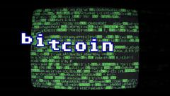 Bitcoin source code bouncing Stock Footage