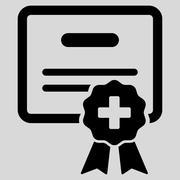 Medical Certification Icon Stock Illustration