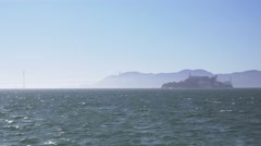 Alcatraz Island Establishing Shot  	 Stock Footage
