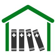 Stock Illustration of Medical Library Icon