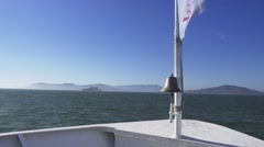 Alcatraz Island as Seen from a Passenger Ferry  	 Stock Footage