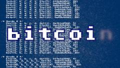Bitcoin source code growing Stock Footage