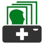 Patient Catalog Icon Stock Illustration