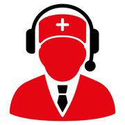 Emergency Manager Icon - stock illustration