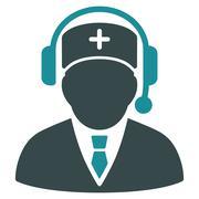 Emergency Manager Icon Stock Illustration