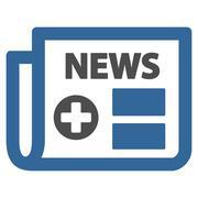 Medical Newspaper Icon - stock illustration