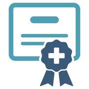 Medical Certification Icon - stock illustration