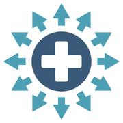 Pharmacy Distribution Icon - stock illustration