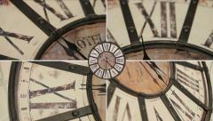 Old fashioned clock on the wall, timelapse Stock Footage