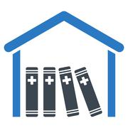 Medical Library Icon Stock Illustration