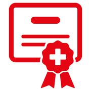 Medical Certification Icon - stock illustration