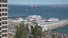 San Francisco Bay Daytime Establishing Shot  	 Stock Footage