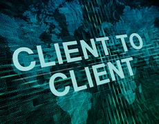 Client to Client Stock Illustration