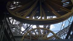 Paris Paris Eiffel Tower - elevator gears Stock Footage