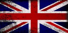 Grunge Union Jack Flag - stock illustration
