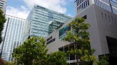 Sony Global Headquarters Tokyo Japan (Wide Shot) Stock Footage