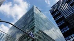 Sony Global Headquarters Tokyo Japan - Glass Skyscraper Stock Footage