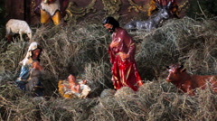 Baby Jesus in the manger Stock Footage