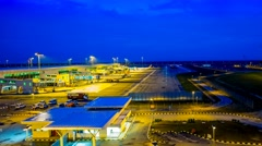 A 4K Footage of Kuala Lumpur International Airport 2 (KLIA2) Stock Footage