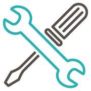 Tuning Tools Icon - stock illustration