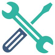 Spanner And Screwdriver Icon Stock Illustration
