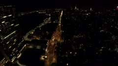 Night timelapse of First Avenue and FDR Drive in Midtown Manhattan, NYC Stock Footage