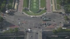 Paris Paris Eiffel Tower - panorama 4 Stock Footage