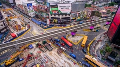 A 4K Footage of 'Golden Triangle' development at Bukit Bintang during peak hour. Stock Footage