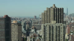 Timelapse of Midtown Manhattan skyline and traffic at First Avenue in NYC - stock footage