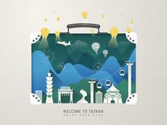 Taiwan attractions - stock illustration