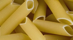 Italian pasta, not cooked Stock Footage
