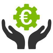 Euro Maintenance Icon - stock illustration