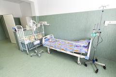 Hospital children bed Stock Photos