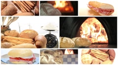 Bread collage Stock Footage