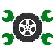 Stock Illustration of Tire Service Icon