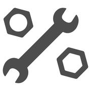 Wrench And Nuts Icon - stock illustration
