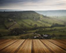 Stock Photo of Stunning landscape of Chrome Hill and Parkhouse Hill Dragon's Back in Peak Di