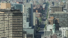 Timelapse of traffic at First Avenue in Manhattan, NYC Stock Footage