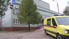 An ambulance drove us a call Stock Footage
