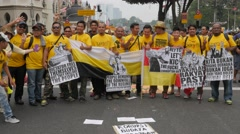 Demonstrators showing their demands,Kuala Lumpur,Malaysia Stock Footage