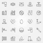 Water supply icons Stock Illustration