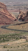 Spotted Wolf Canyon San Rafael Swell Utah traffic landscape vertical HD Stock Footage